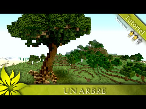 minecraft tuto comment construire un arbre niveau moyen youtube. Black Bedroom Furniture Sets. Home Design Ideas