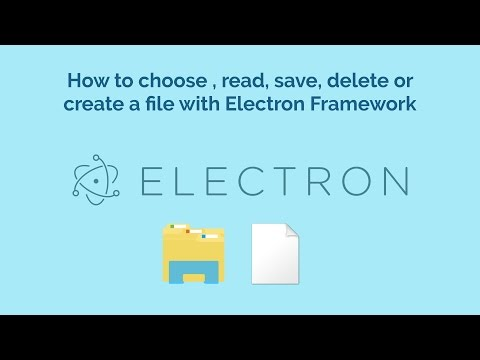 How To Choose Read Save Delete Or Create A File With Electron