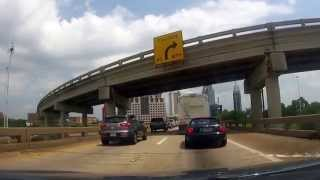 Driving through the George Wallace Tunnel in Mobile, AL