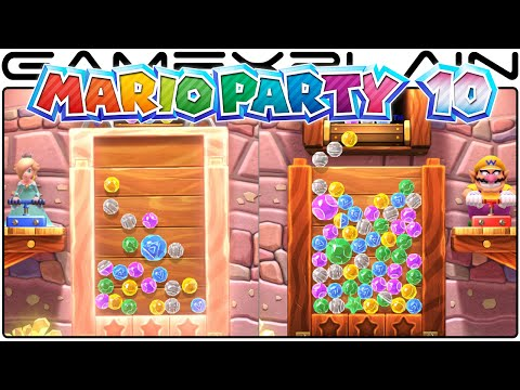 Mario Party 10 - Jewel Drop Bonus Game Gameplay (Wii U - 1080p60fps)