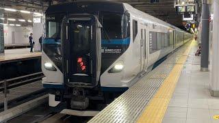 【新宿駅】E257系 特急踊り子18号 発着シーン