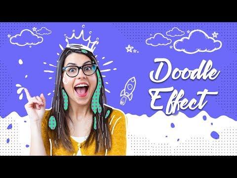Photoshop Tutorial - Doodle Portrait Photo Effect thumbnail
