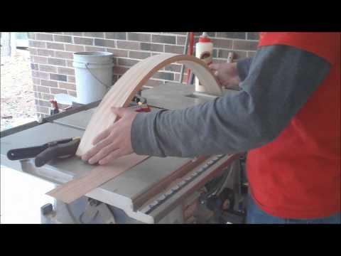 Building a Cherry Sunburst table (Part 6 Applying Veneer)