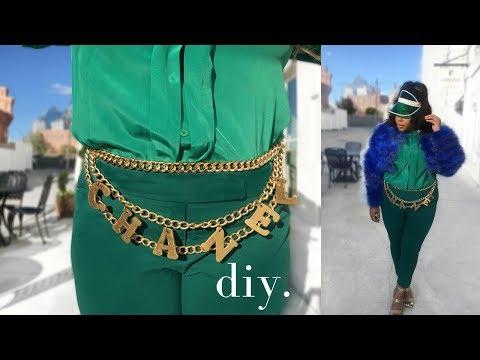 DIY | Chanel Inspired Chain Belt | RoxysGotMoxy