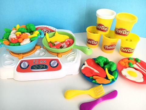 PLAY DOH KITCHEN CREATIONS SIZZLINu0027 STOVETOP Favorite Toys For Kids