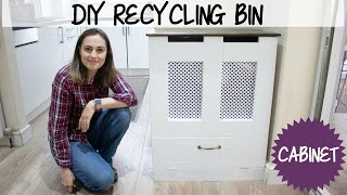 DIY Recycling Bins Cabinet with Storage | The Carpenter's Daughter