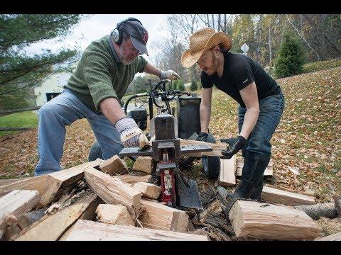 Dangerous Extreme Homemade Firewood Processing Machine, Homemade Wood Processor Technology