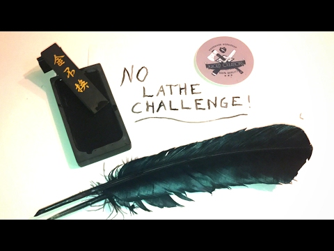 No Lathe Pen Challenge: Making A Feather Quill