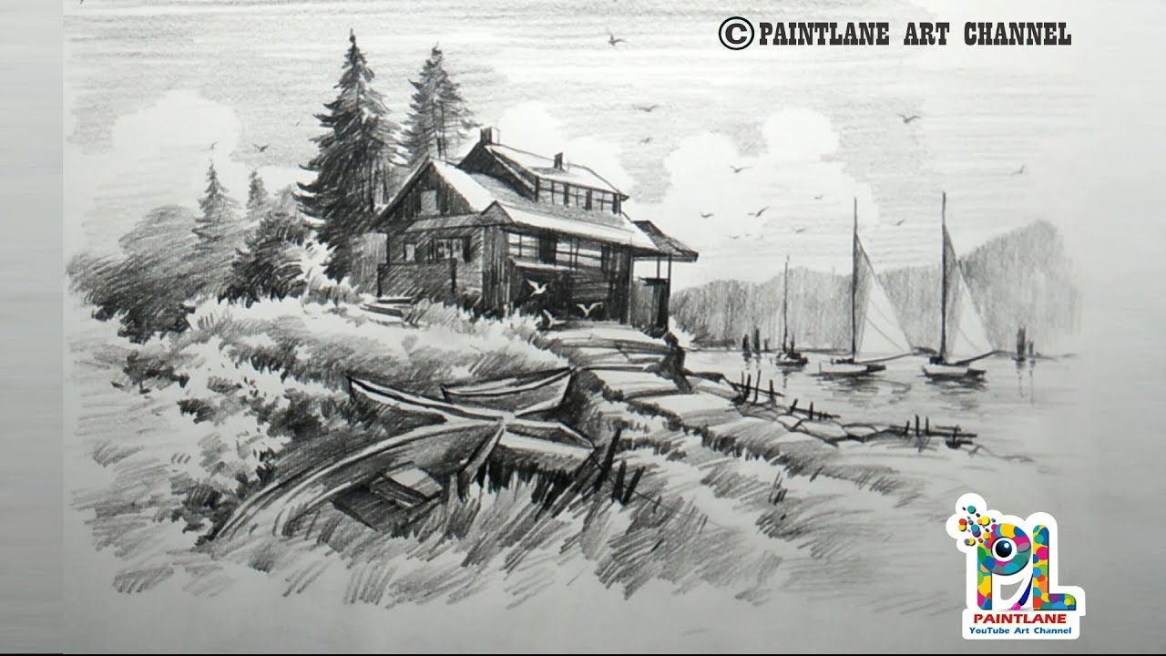 It's just an image of Nerdy Landscape Drawing In Pencil