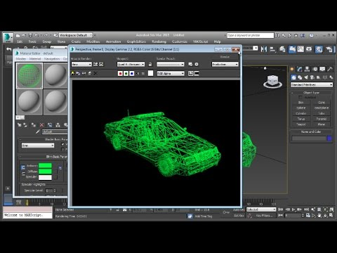 3Ds Max How To Render Wireframe