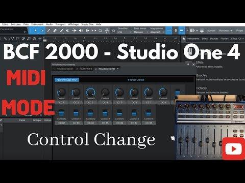 BCF 2000  - Presonus Studio ONE 4.5 - midi CC