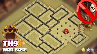town hall 9 war base 2017 best anti laloon base with aq island