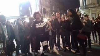 les twins at piccadilly circus 16th may 2018 laurent larry cypher
