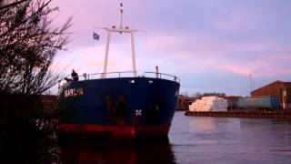 Marlin Cargo Ship Docking Harbour Perth Perthshire Scotland