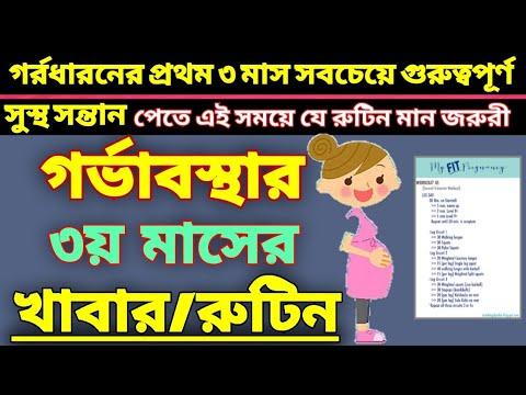 গর্ভাবস্থার ৩য় মাসের নিরাপদ খাবার । Pregnancy Diet plan । Bangla Health Tips