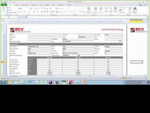 RCVcalc Sizing Software Basic Training