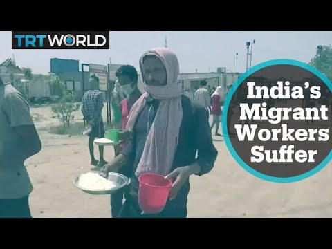 India's migrant workers stranded without jobs or income