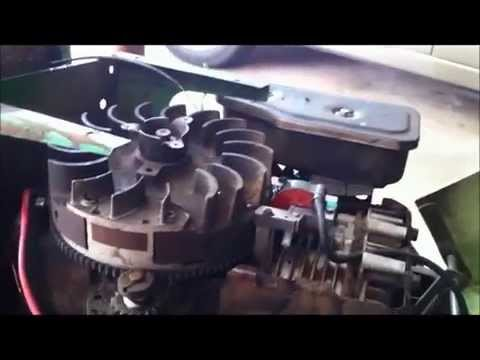 1980 john deere 111 11hp briggs and stratton electronic igniton conversion  from points - youtube