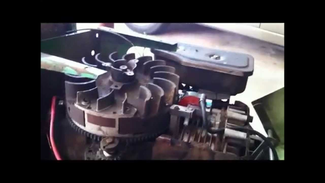 1980 John Deere 111 11hp Briggs and Stratton Electronic Igniton Conversion from Points  YouTube
