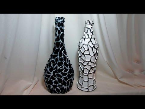 декор из стеклянной бутылки своими руками фото