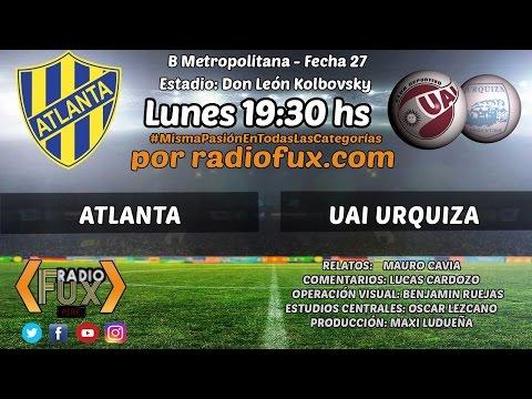 Atlanta 0 - UAI Urquiza 2 - Primera B