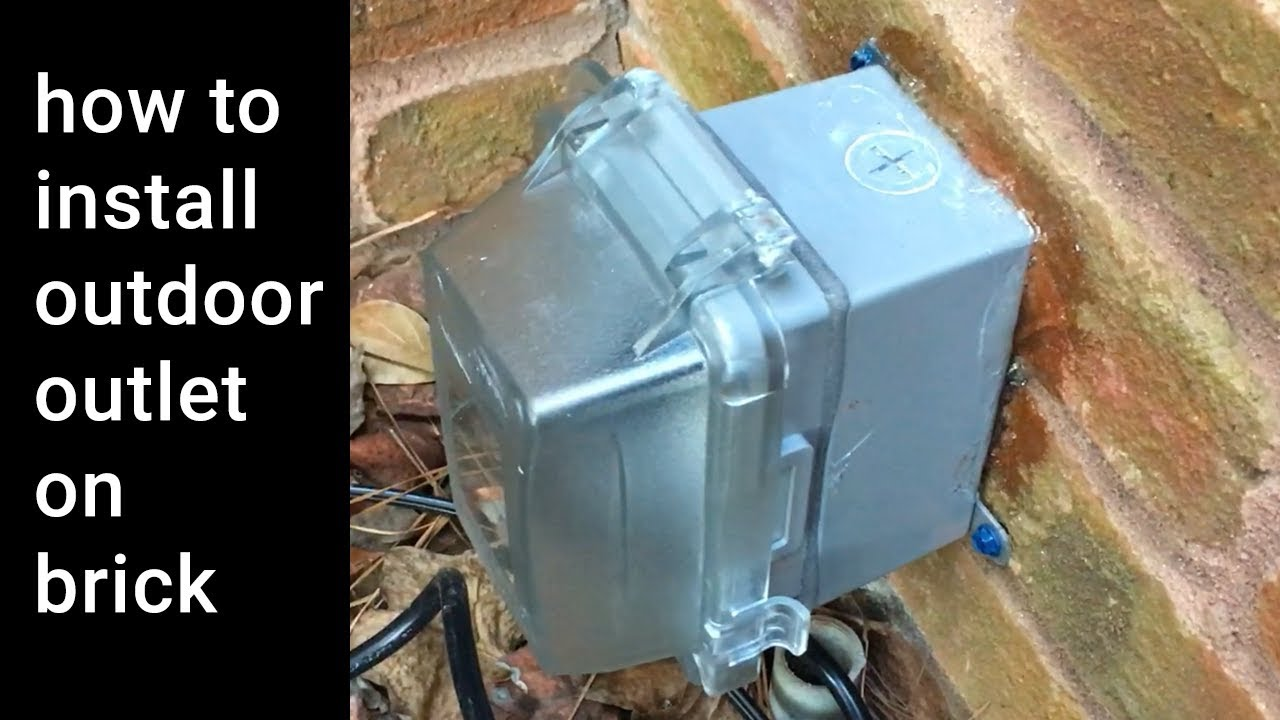 HowTo Install Outdoor Weatherproof Outlet on Brick Wall - YouTube on electrical wiring in north america, electrical switch wiring, electrical lighting wiring, open neutral in electrical wiring, circuit breaker wiring, british electrical wiring, electrical wiring diagram, electrical socket, electrical plug, electrical switches wiring, basic electrical wiring, roughing in electrical wiring, home wiring, bad electrical wiring, electrical wall outlets, residential electrical wiring, exterior electrical wiring, electrical work, scary electrical wiring, electrical panel wiring,