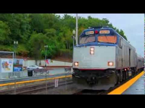 Amtrak #90214 departs Haverhill-New Rails at Haverhill station!!