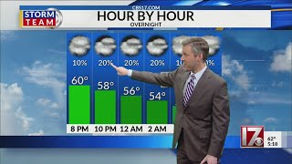 Wes Hohenstein's 5pm forecast