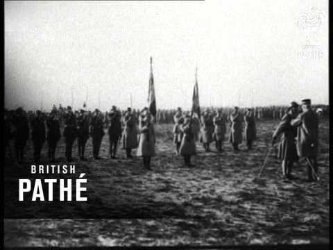 French Army Reviewed By General Petain (1914-1918)