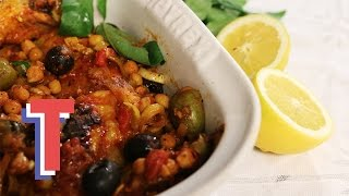 Simple Italian Chicken with Tomatoes & Chickpeas