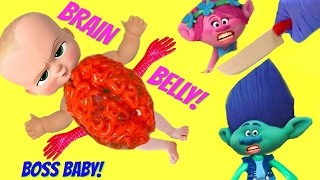 Cutting Open Boss Baby BRAIN BELLY Operation - Surgery to FInd Toys Inside