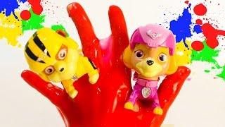 Семья пальчиков ЩЕНЯЧИЙ ПАТРУЛЬ на русском Развивающие песенки для детей Мультики для малышей