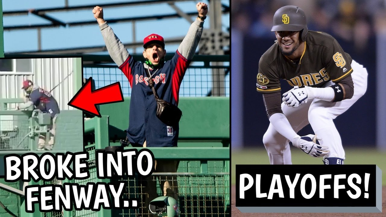 Crazy Fan BREAKS INTO Fenway Park, Screams! Padres Going to Playoffs, Jacob deGrom (MLB Recap)