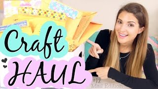 CRAFTY Mail Haul #12 - Handmade Inspiration - PO Box Mail Opening Gifts from Viewers!