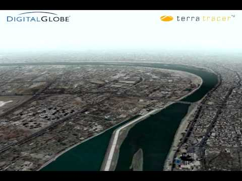 Digital Globe Terra Tracer Demo, Baghdad, Iraq