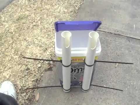 Kayak Bucket Rod Holder Youtube