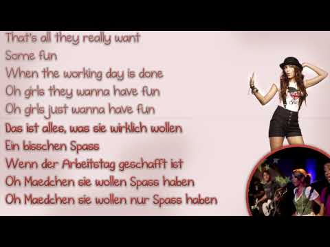 Miley Cyrus - Girls Just Wanna Have Fun (Lyrics + deutsche Übersetzung) [HD]