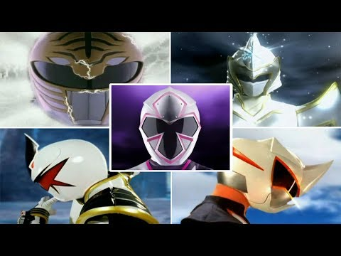 Forever White Ranger Morphs | Mighty Morphin Power Rangers - Power Rangers Super Ninja Steel