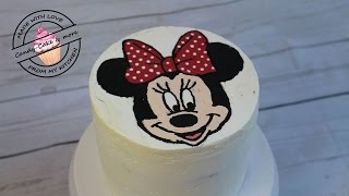 Minnie Mouse Torte I Buttercreme Transfer Methode I Motivtorte I Tutorial