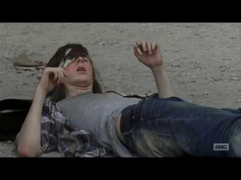 The Walking Dead 7x07 Carl Kills Two Of Negan's Men