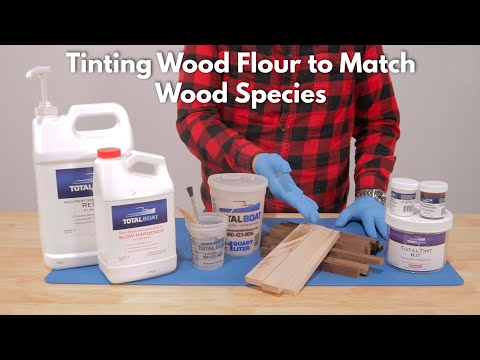 Tinting Epoxy Resin with Tinted Wood Flour
