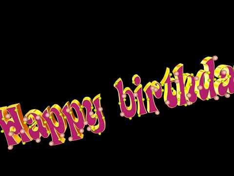 Footage Happy Birthday 3D!С Днем рождения на английском языке