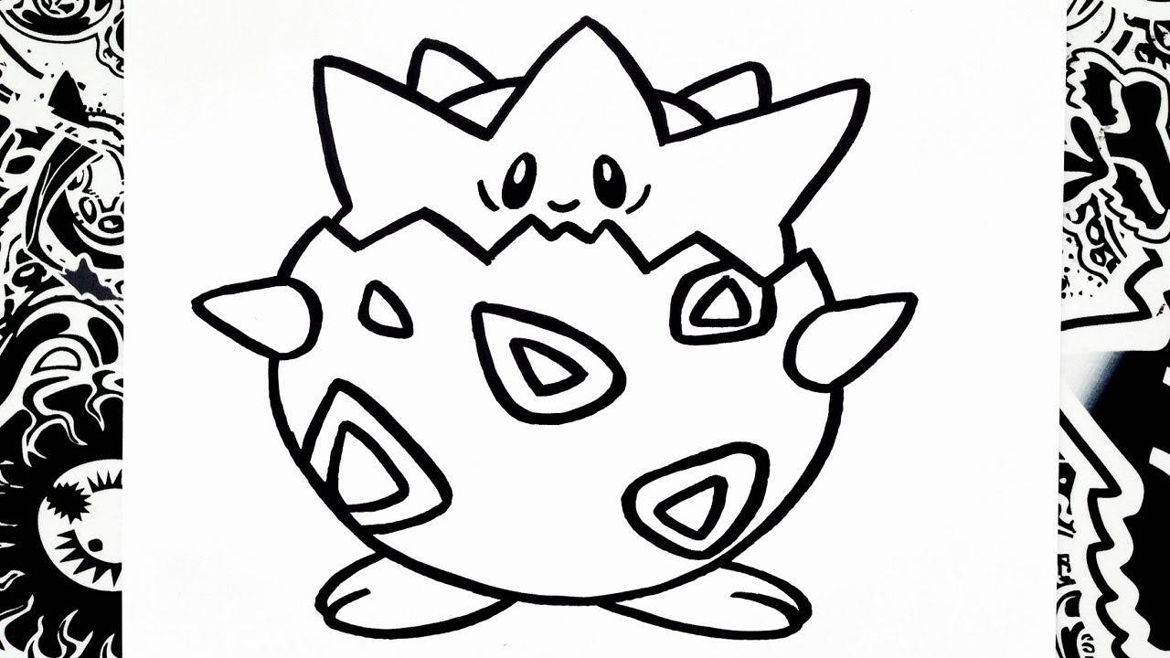 How To Draw Togepi - YouTube