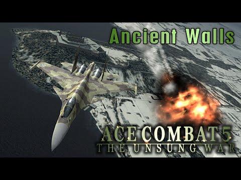 "Ace Combat 5: The Unsung War. Mission 20 ""Ancient Walls"""