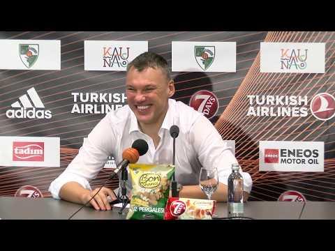 EuroLeague: Žalgiris Kaunas – Olympiacos Piraeus press conference