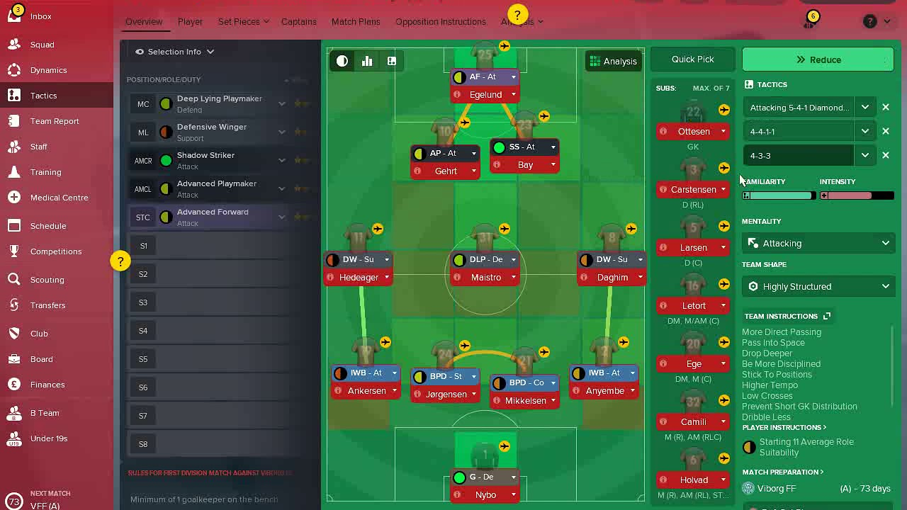 Best Fm 18 Tactic: Well Balanced Tactic