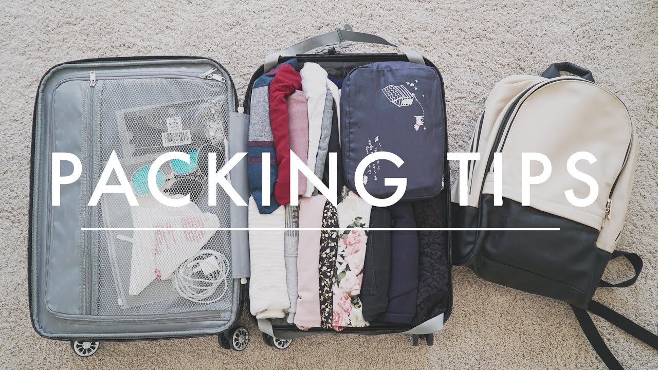 Travel packing tips how to pack a carry on packing How to pack a carry on suitcase video