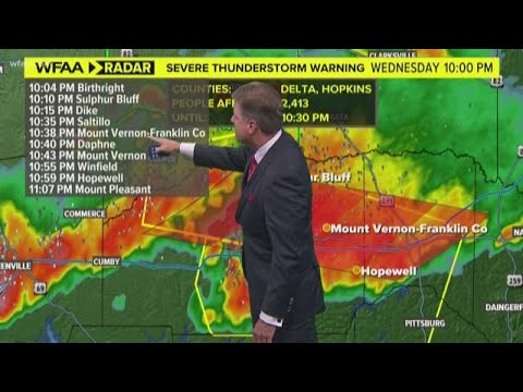 DFW weather: Storms firing up again in North Texas