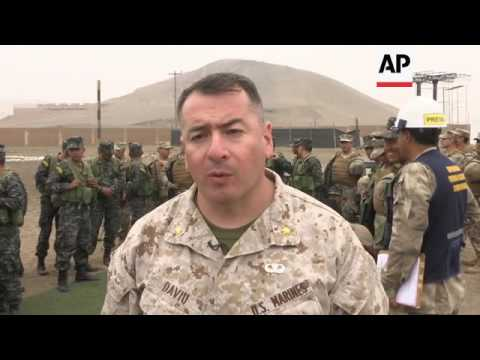 US Marines in joint exercise with Peru forces