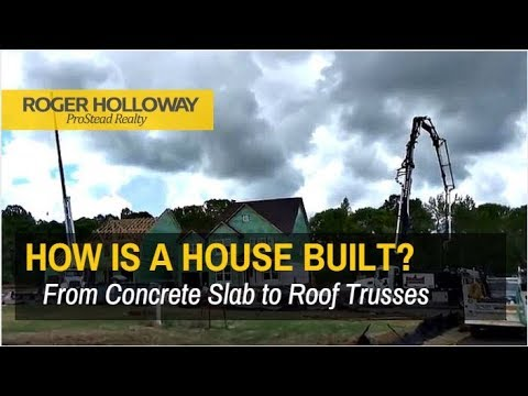 how is a house built from concrete slab to roof trusses - House Built On Concrete Slab